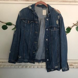 Distressed Jean Jacket Zara